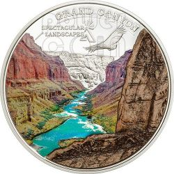 GRAND CANYON Spectacular Landscapes Marble Silver Coin 5$ Cook Islands 2014
