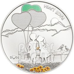 PAINT YOUR COIN Primo Amore Moneta Argento 5$ Cook Islands 2014