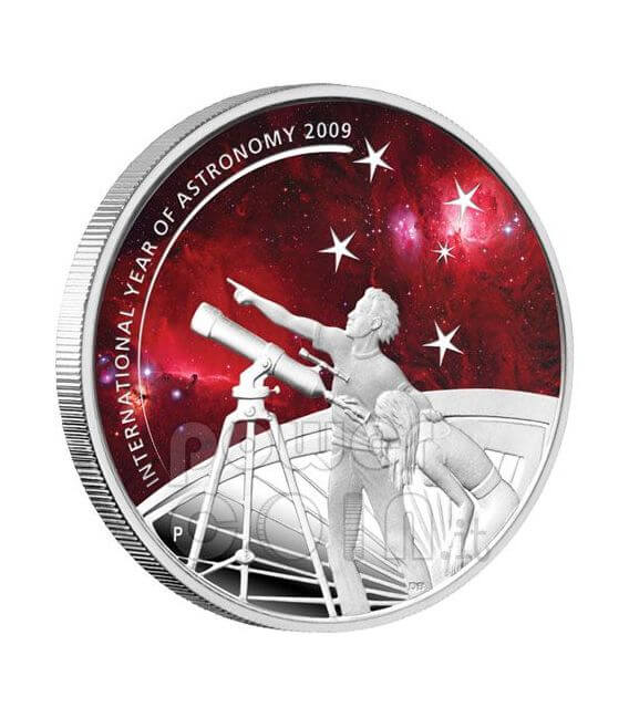 INTERNATIONAL YEAR ASTRONOMY Silver Coin 1$ Australia 2009