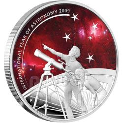INTERNATIONAL YEAR ASTRONOMY Moneda Plata 1$ Australia 2009