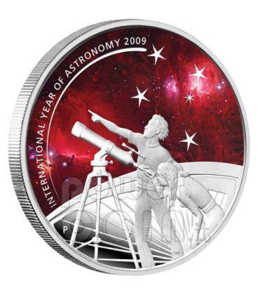 ANNO INTERNAZIONALE ASTRONOMIA Moneta Argento 1$ Australia 2009