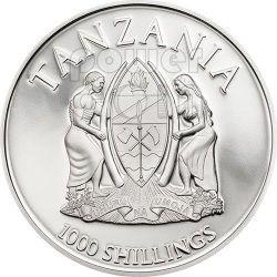 CANONIZATION OF THE POPES Handmade Gilded Moneda Plata 1000 Shillings Tanzania 2014