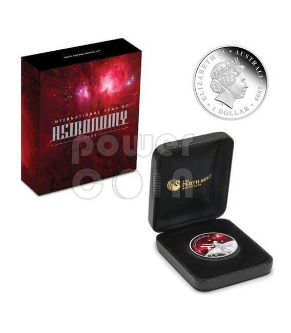 INTERNATIONAL YEAR ASTRONOMY Silber Münze 1$ Australia 2009