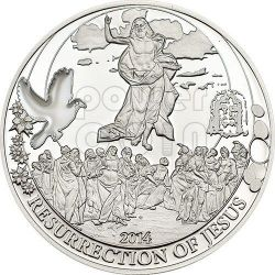 RESURRECTION OF JESUS Biblical Stories Silver Coin 2$ Palau 2014