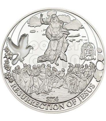 RESURREZIONE DI GESU Biblical Stories Moneta Argento 2$ Palau 2014