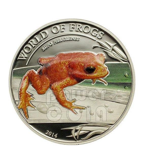 ROSPO DORATO Bufo Periglenes World Of Frogs Moneta Argento 2$ Palau 2014
