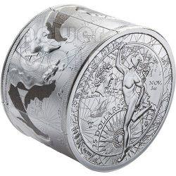 FORTUNA REDUX Prosperita Affari Mercurio Moneta Argento 3 Oz 25$ Niue 2014