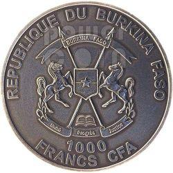 LEONE AFRICANO Lion African Big Five Moneta Argento 1 Oz 1000 Franchi Burkina Faso 2014