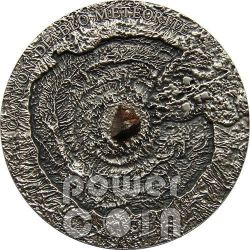 METEORITE CANYON DIABLO Meteor Crater Moneta Argento 1$ Niue Island 2014