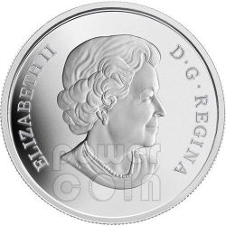LEOPARD FROG Water Lily Venetian Glass Murano Серебро Монета 20$ Канада 2014