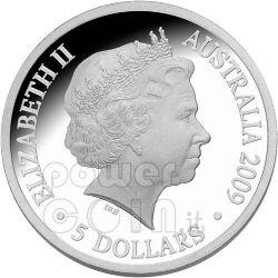 POLAR YEAR Aurora Australis Moneda Plata 5$ Australia 2009