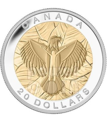 LOVE Eagle Seven Sacred Teachings First Nations Silver Coin 20$ Canada 2014