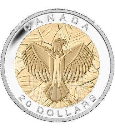 LOVE Seven Sacred Teachings Prime Nazioni Aquila Amore Moneta Argento 20$ Canada 2014