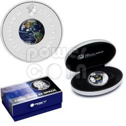 YURI GAGARIN First Man In Space Silver Coin 1$ Cook Islands 2008