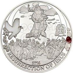 RESURRECTION OF JESUS Easter Egg Set Biblical Stories Three 3 Серебро Монета 2$ Палау 2014
