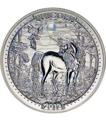 UNICORNO Unicorn Series Opale Moneta Argento 1000 Franchi Camerun 2013