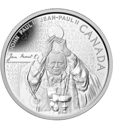 CANONIZATION OF THE POPE John Paul II Silver Proof Coin 10$ Canada 2014