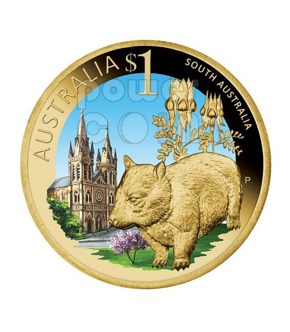 SOUTH AUSTRALIA CELEBRATE AUSTRALIA Монета 1$ Австралия 2009
