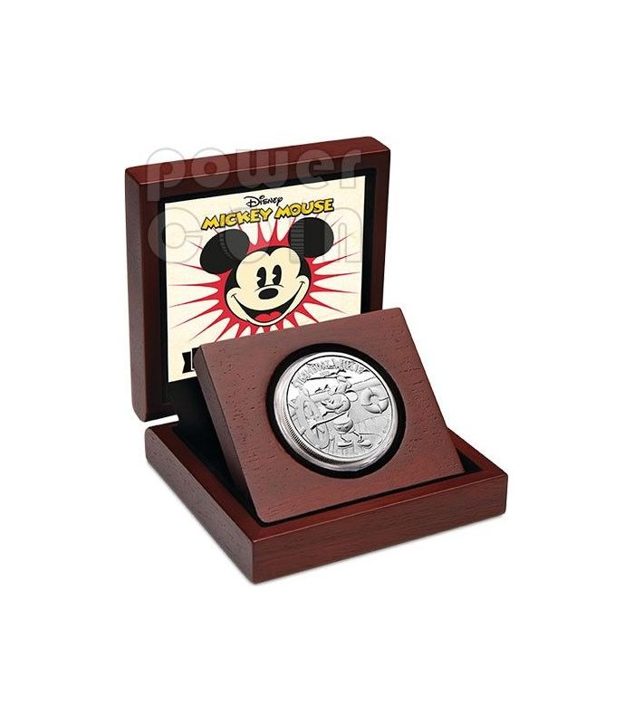 Steamboat Willie Mickey Mouse Disney 1 Oz Silber Proof Münze 2 Niue