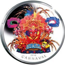 CARNIVAL Carnaval Silver Coin 5 Florin Aruba 2014