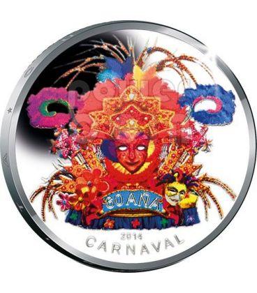 CARNEVALE Carnival Moneta Argento 5 Fiorini Aruba 2014