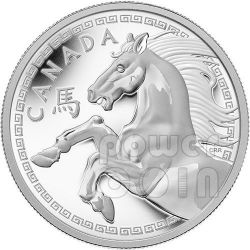 HORSE Lunar Year 1 Kg Kilo Kilogram Plata Proof Moneda 250$ Canada 2014