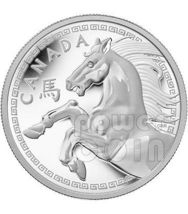 CAVALLO Horse Lunar Serie Moneta Argento Proof 1 Kg Kilo Kilogram 250$ Canada 2014