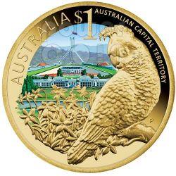 AUSTRALIAN CAPITAL TERRITORY CELEBRATE AUSTRALIA Moneda 1$ Australia 2009