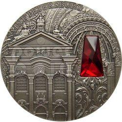 PALAZZO INVERNO San Pietroburgo Winter Palace Saint Petersburg Moneta Argento 2 Oz 2$ Niue 2014