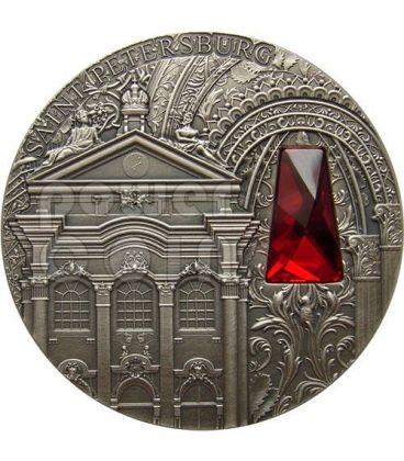 WINTER PALACE Saint Petersburg Zimnij Dvorec 2 Oz Silver Coin 2$ Niue 2014