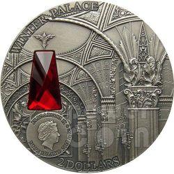 WINTER PALACE Saint Petersburg Zimnij Dvorec 2 Oz Moneda Plata 2$ Niue 2014
