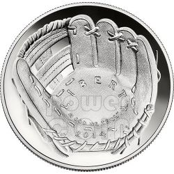 NATIONAL BASEBALL Hall of Fame Proof Silver Coin 1$ Dollar US Mint 2014