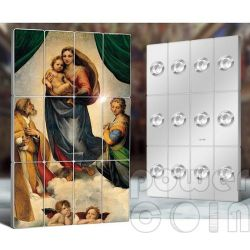 SISTINE MADONNA Raphael Giants of Art 12 Silver Coin Set 5$ Niue 2014