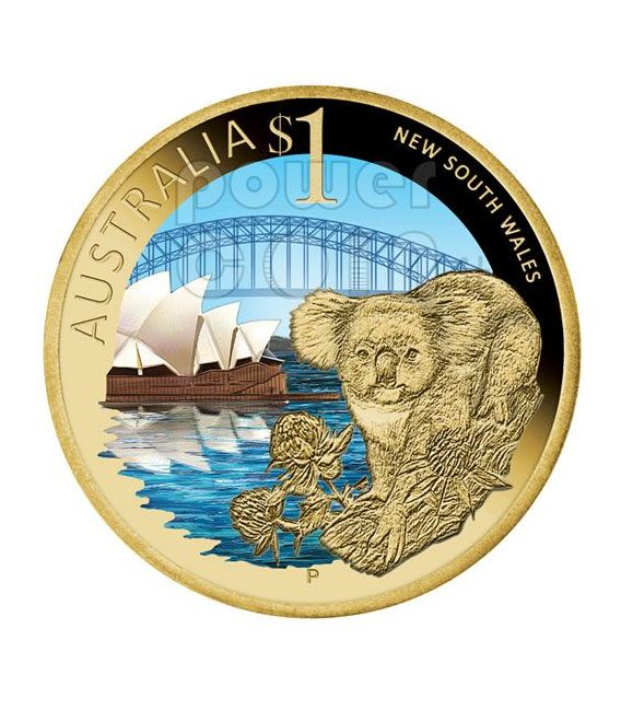 NEW SOUTH WALES CELEBRATE AUSTRALIA Coin 1$ Australia 2009