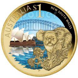 NEW SOUTH WALES CELEBRATE AUSTRALIA Moneta 1$ Australia 2009
