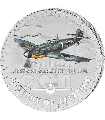 MESSERSCHMITT BF 109 History Of Aviation Airplane Fighter Aircraft Silver Coin 5000 Francs Burundi 2014