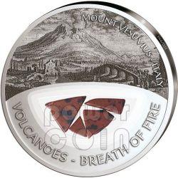 VESUVIO Vesuvius Vulcani Breath Of Fire Moneta Argento 10$ Fiji 2013