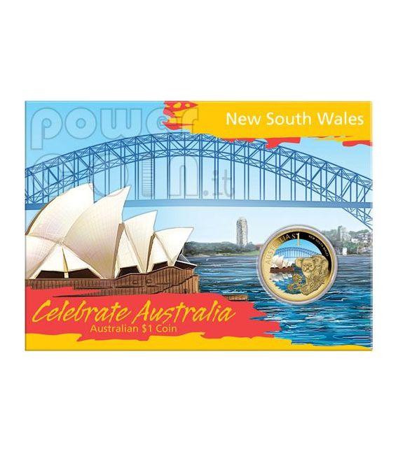 NEW SOUTH WALES CELEBRATE AUSTRALIA Moneda 1$ Australia 2009