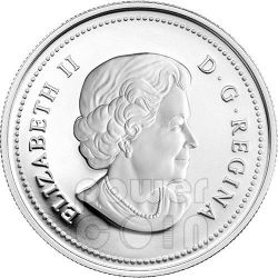 MAPLE OF LONGEVITY Acero della Longevita Fortuna Moneta Ologramma Argento 15$ Canada 2014