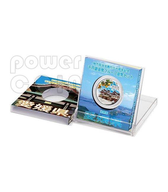 EHIME 47 Prefectures (33) Silber Proof Münze 1000 Yen Japan 2014