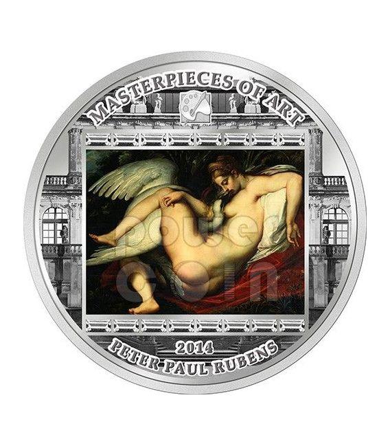 LEDA AND SWAN Cigno Peter Paul Rubens Masterpieces of Art 3 Oz Moneta Argento 20$ Cook Islands 2014