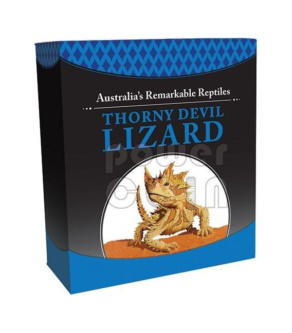 "Tuvalu 2014  1$ Australia/'s Remarkable Reptiles Thorny Devil   1oz Silver /""2/"""