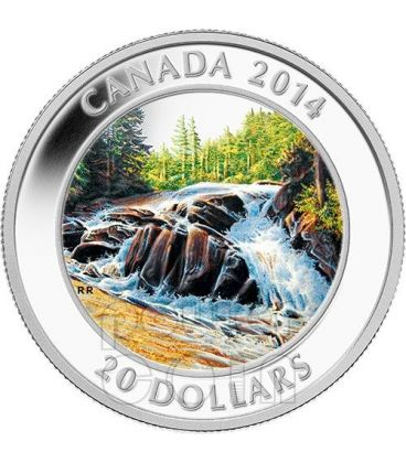 RIVER RAPIDS Algonquin Provincial Park Moneta Argento 20$ Canada 2014