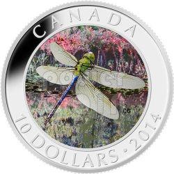 GREEN DARNER Dragonfly Silver Coin 10$ Canada 2014