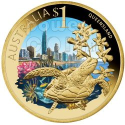 QUEENSLAND CELEBRATE AUSTRALIA Монета 1$ Австралия 2009