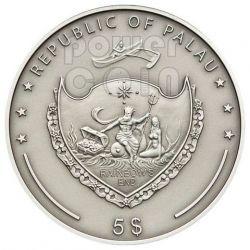 AMETHYST Treasures Of The World Silber Münze 5$ Palau 2013