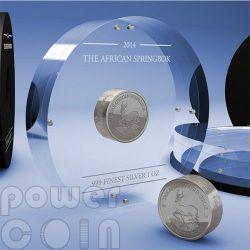 AFRICAN SPRINGBOK Smick Antelope Moneda Plata 1000 Francs Gabon 2014