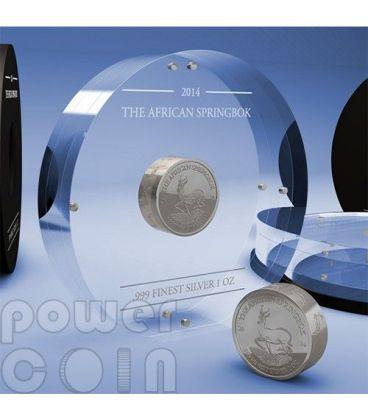 AFRICAN SPRINGBOK Smick Antelope Silver Coin 1000 Francs Gabon 2014