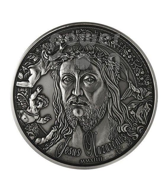 JESUS NAZARENUS Gesu Cristo Di Nazaret Moneta Argento 1 Oz 1000 Franchi Burkina Faso 2014