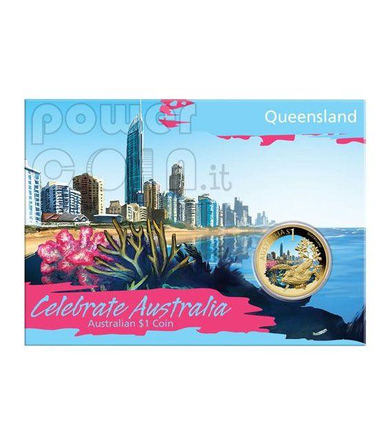 QUEENSLAND CELEBRATE AUSTRALIA Moneda 1$ Australia 2009